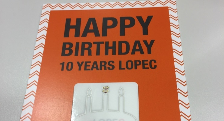 LOPEC created this demonstrator in honor of its 10th anniversary.