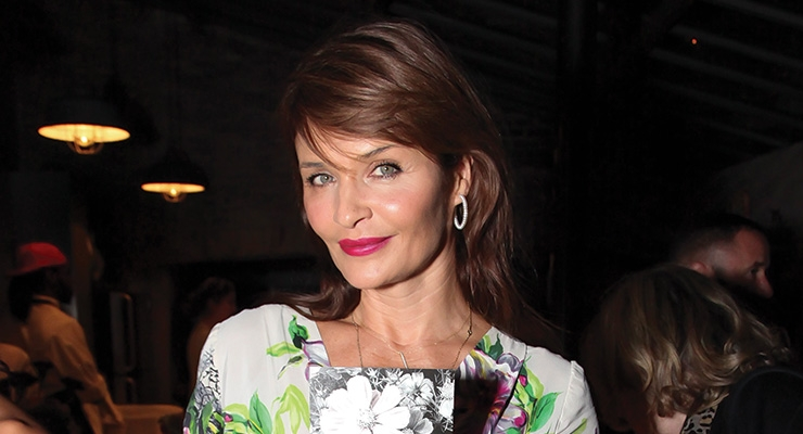 Model Helena Christensen recently launched a new fragrance.