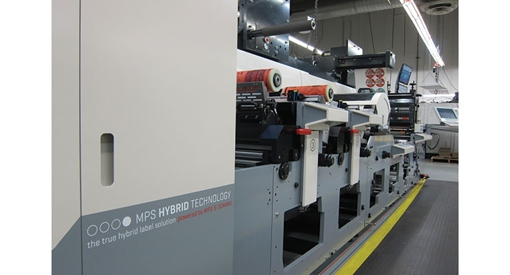 The MPS EF Symjet press powered by Domino installed at Meyers