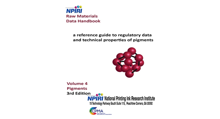 New Edition of NPIRI Pigments Raw Materials Data Handbook Now Available