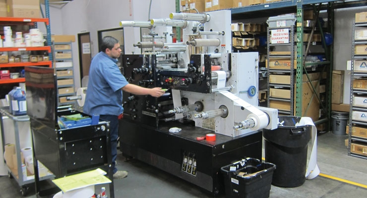 Pacific Barcode's Mark Andy 830 flexo press