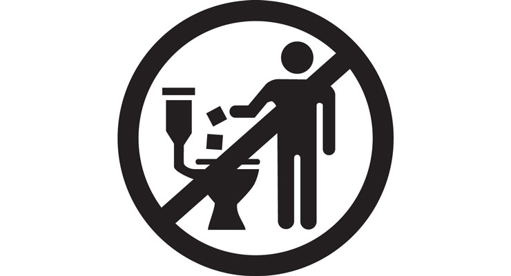 The Do Not Flush symbol.