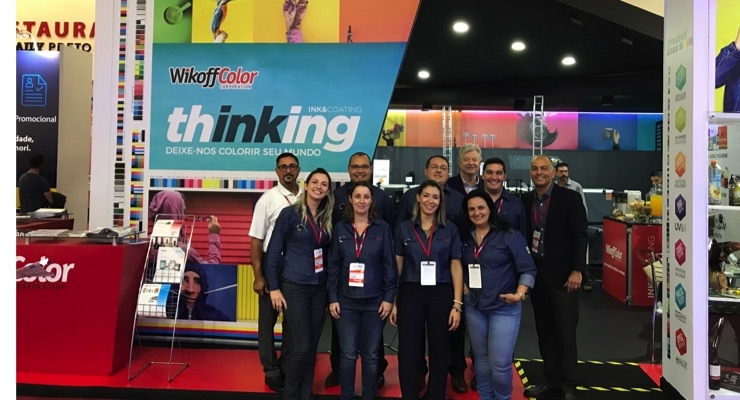 The Wikoff Color team at ExpoPrint 2018. (Source: Wikoff Color)