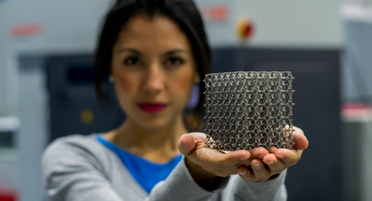 Norman Noble's Additive Manufacturing capabilities specialize in 3D Printing of Metallic Alloys for shape-set fixtures and prototype-to-production of medical implant designs. Image courtesy of Norman Noble.
