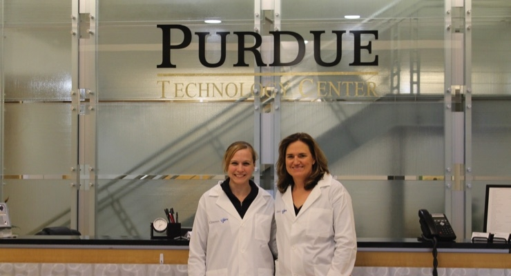 Gina Cosby, lab and technical project manager, and Shannon Vondrak, director of business development, personal care, Americas, proudly pictured outside the new PC application lab.