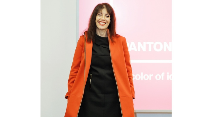 The author, Laurie Pressman, vice president of the Pantone Color Institute