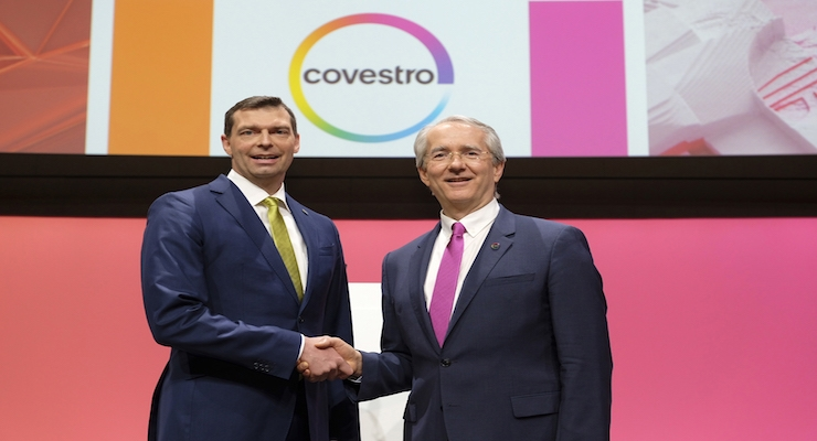 Dr. Markus Steilemann and Patrick Thomas/Courtesy Covestro