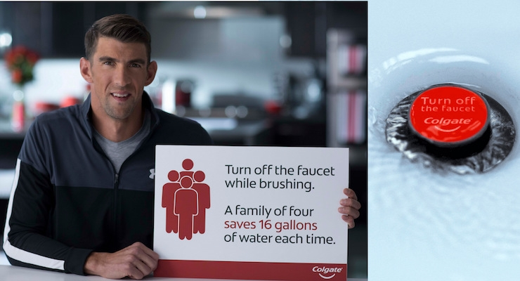 Colgate Recruits Michael Phelps to Help Save Water for Earth Day