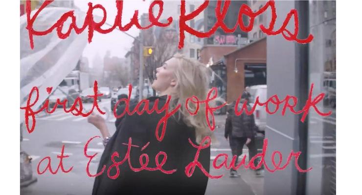 Karlie Kloss Produces Videos for Estée Lauder