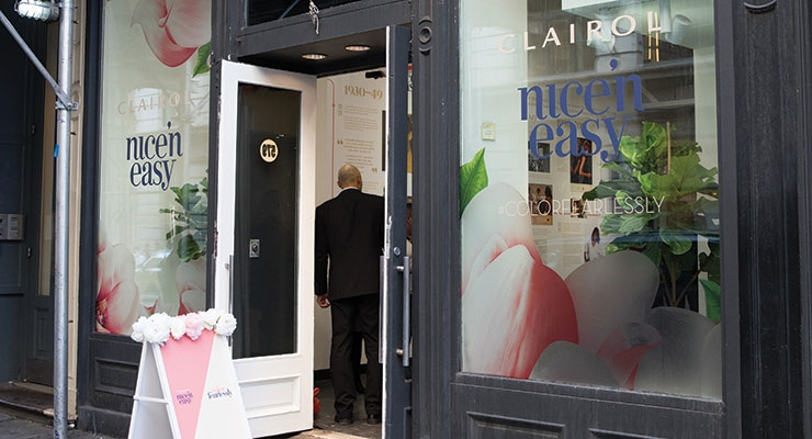 To herald the relaunch of Clairol Nice'n Easy, Coty opened a pop-up store in New York City.