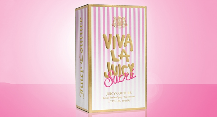 Diamond Packaging's carton for Viva La Juicy Sucré was manufactured using 100% clean, renewable wind energy and produced in a ZMWL facility.