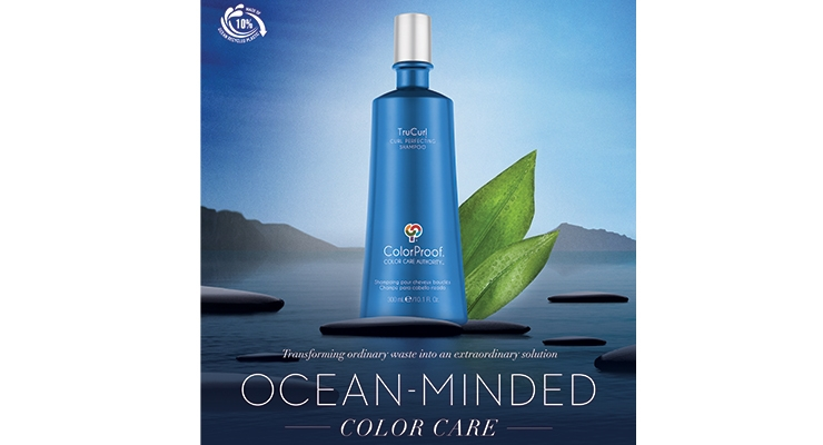 ColorProof developed a special logo to educate  consumers on the ocean plastics used in the bottle.