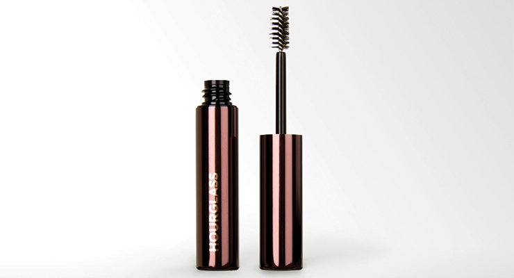 Hourglass Brow Gel has a custom gun-metal aluminum overshell by Compax.