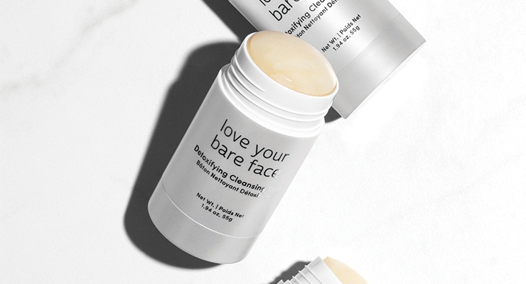 Cosmopak quickly produced this convenient, pearlescent wind-up package for Julep's Love Your Bare Face detoxifying cleansing stick (photo courtesy of Julep).