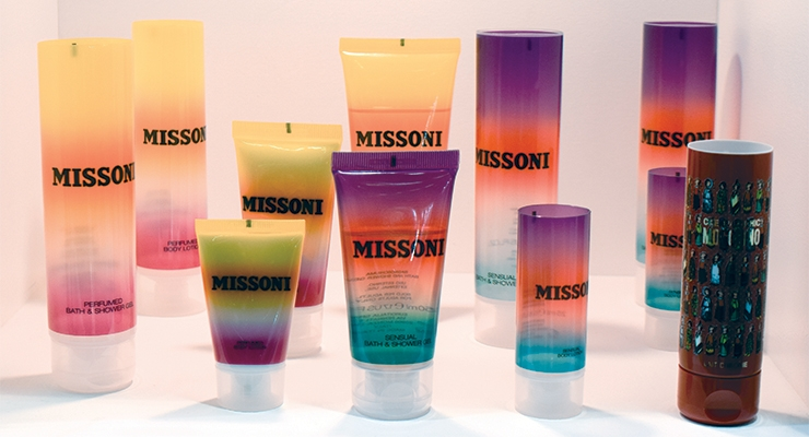 Tubopress Halia presented luxurious tubes, including these for Missoni,  which captured the essence of the Italian textile brand.
