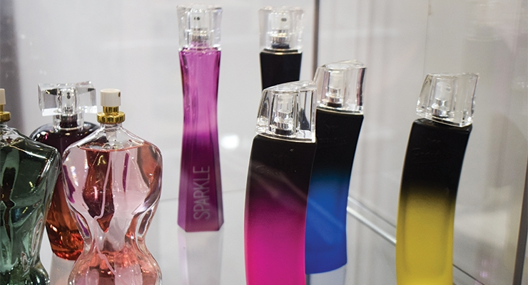 Colorful bottles at Glass & Glass