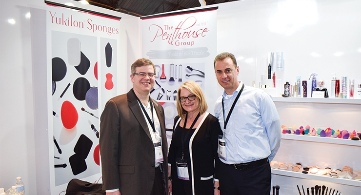 The Penthouse Group (L-R): Richard Esterbrook, director of sales; Christine Nolan, vice president of sales; Steve Ostrower, president