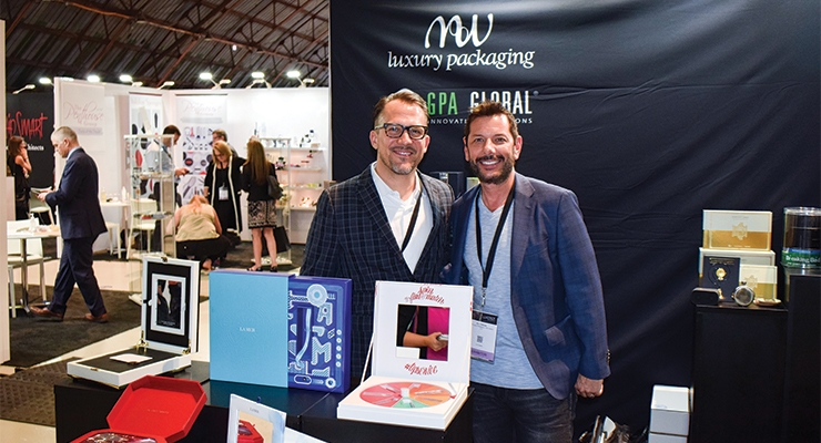MW Luxury Packaging: Dustin Wills, managing director, Americas (L); Eric Pallone, senior vice president of business development