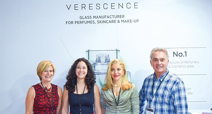 Verescence (L-R): Karen Zaccaria, director of sales; Sabrina Bejaoui, executive assistant; Sheherazade Chamlou, vice president of sales & marketing, NA; and Peter Acerra, president/CEO.