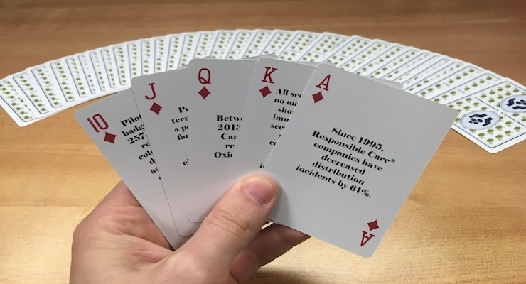 Pilot Chemical Company Uses Branded Playing Cards to Promote Safety
