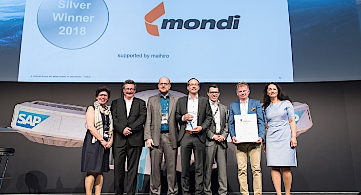 Mondi wins two SAP Quality Awards