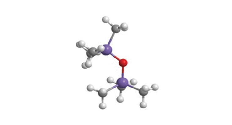 Figure 2. Illustration of a silicone atomic structure.