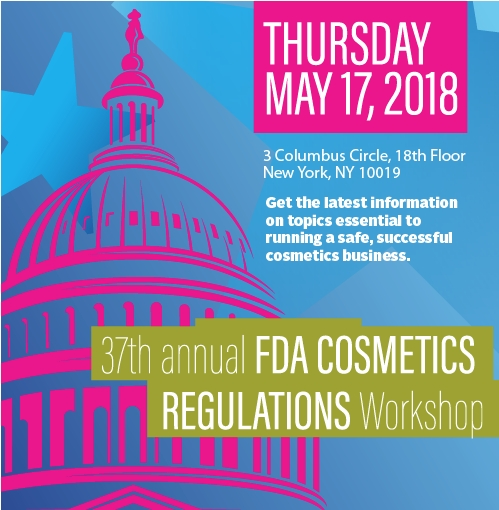ICMAD Presents 37th Annual FDA Cosmetics Workshop