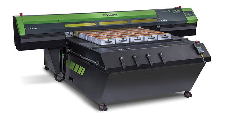 Roland VersaUV LEJ-640FT flatbed printer (Photo courtesy of Roland DGA)