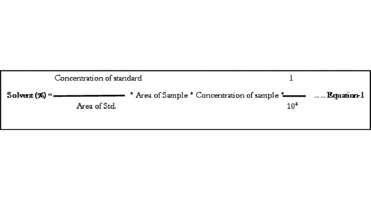 Calibration and Validation of a Headspace Gas Chromatographic Method