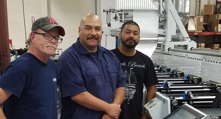 From left, Mike Roper, Luis Aguilar, & Freddy Guido at the California facility.