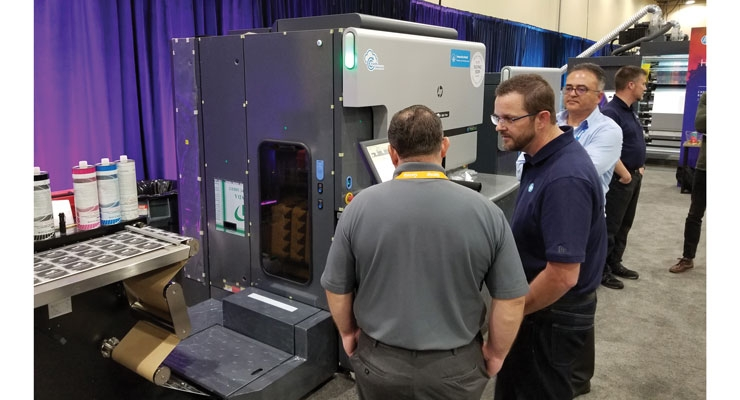 The new HP Indigo 6900 digital label press drew interest at the show.