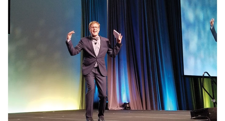 Andrew Davis, a best-selling author, energized the crowd as the conference emcee.
