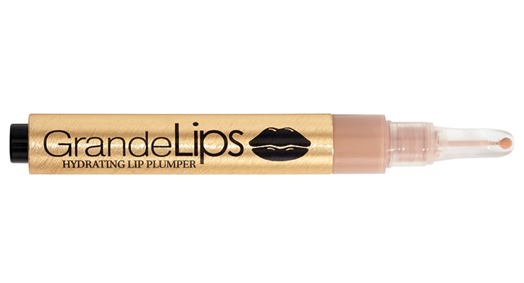 Grande Cosmetics' latest lip formulation is applied with a unique cushion applicator.