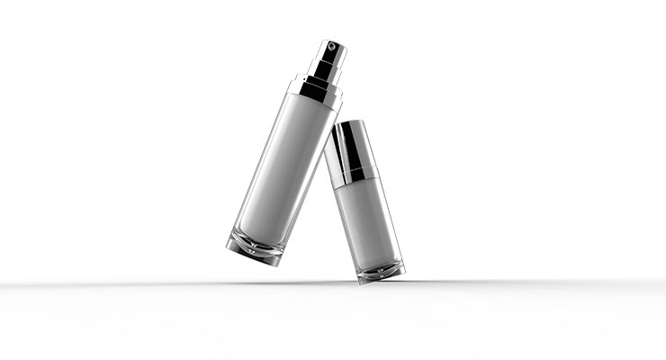 Fusion Packaging's Evolve  airless bottles.