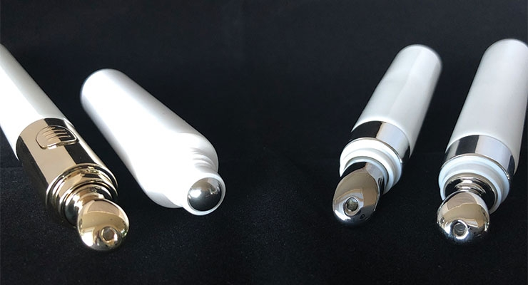 Applicators, like these from Global Packaging, broaden  the usage flexibility and product opportunities of tubes.