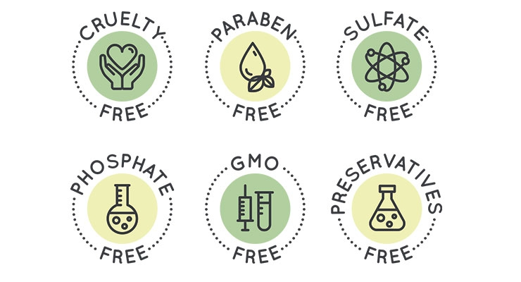 More and more icons are appearing on packaging  for 'clean and healthy' beauty products.