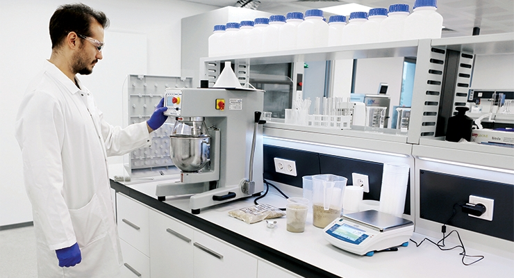 WACKER's new Technical Center in Istanbul, Turkey, has been supporting customers in the construction, textile, household, and personal care industries since 2017. The new laboratory serves as an application and test laboratory for polymeric binders and silicones. (Photo: Wacker Chemie AG)