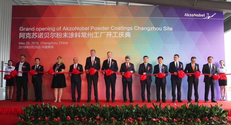 AkzoNobel's Largest Powder Coatings Plant Opens In China