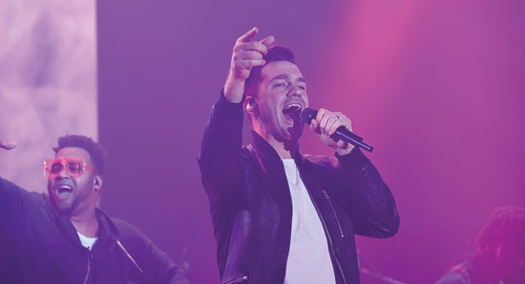 Recording artist Andy Grammer provided a live performance at the Wynn.