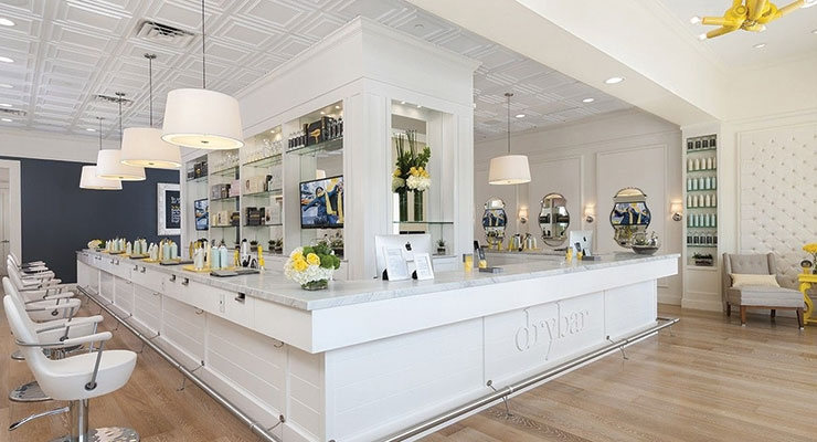 Inside a Drybar  salon in Houston.