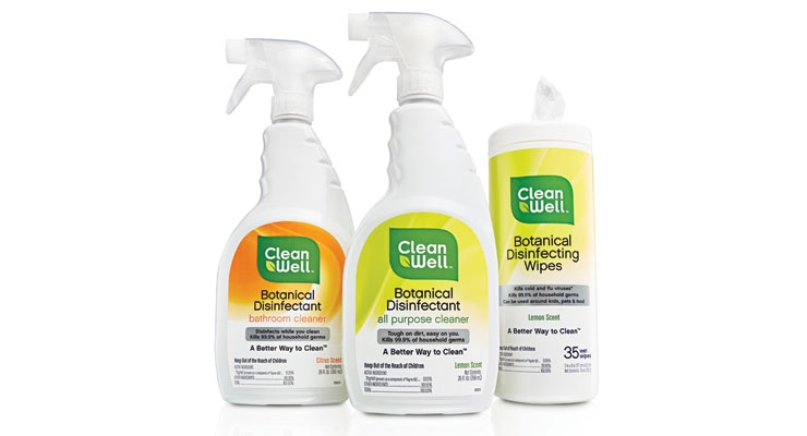 CleanWell offers botanical-based home care sprays and wipes.