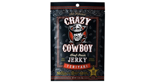 AriZona Beverage's Crazy Cowboy Jerky, printed by Inland, received Best of Category at GEA. (Source: Inland)