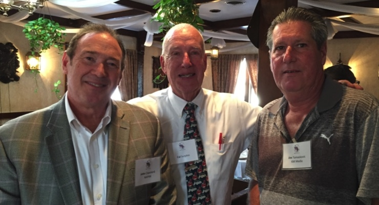 John Copeland, Cal Sutphin and Jim Tomaskovic at the MNYPIA Man of the Year Award dinner.