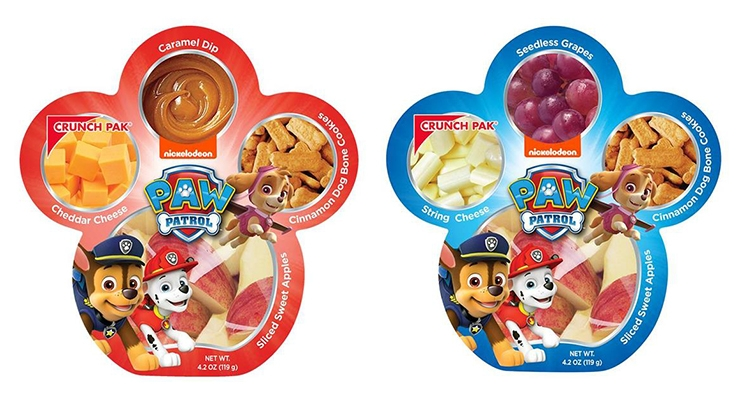 Sonoco PAW Patrol-themed Snack Trays for Crunch Pak Featured at United Fresh