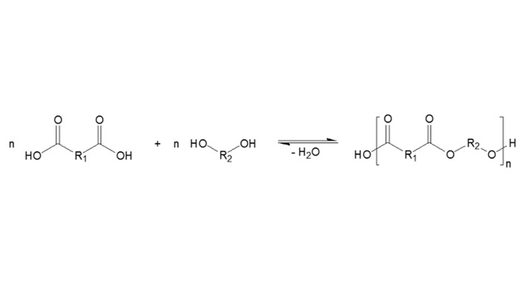 Figure 2. General reaction for the manufacture of specially modified polyester resins.