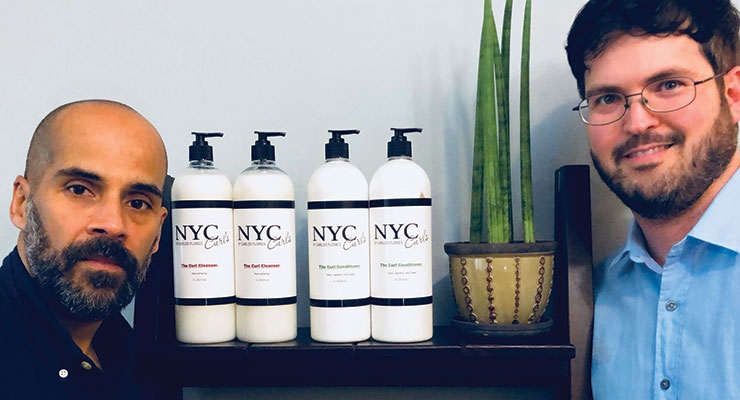 Flores and Krieg together run NYC Curls, which sells a specialized line of hair care products.