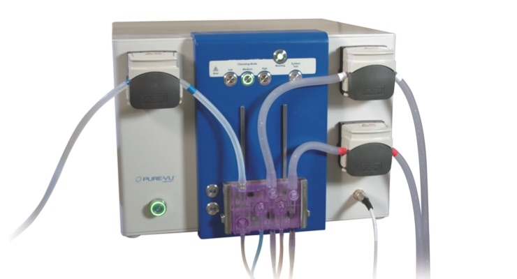 The Pure-Vu System is an FDA-cleared medical device used to clean a poorly prepped colon during the colonoscopy procedure. Image courtesy of Motus GI Holdings Inc.