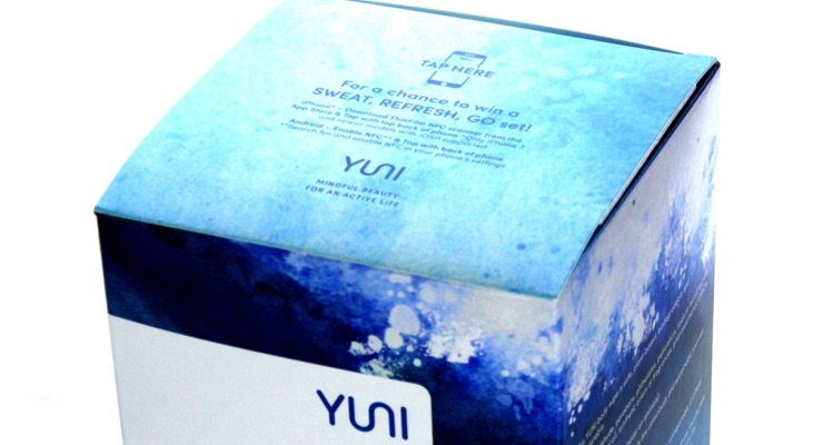 YUNI's Shower Sheets cartons feature NFC capabilities. (Source: YUNI Beauty)