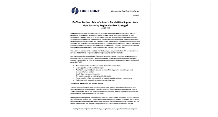 Do Your Contract Manufacturer's Capabilities Support Your Manufacturing Regionalization Strategy?