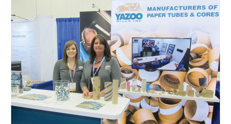 Yazoo Mills displays tubes and cores